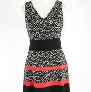 Ann Klein Black and White Polka Dress Size 8